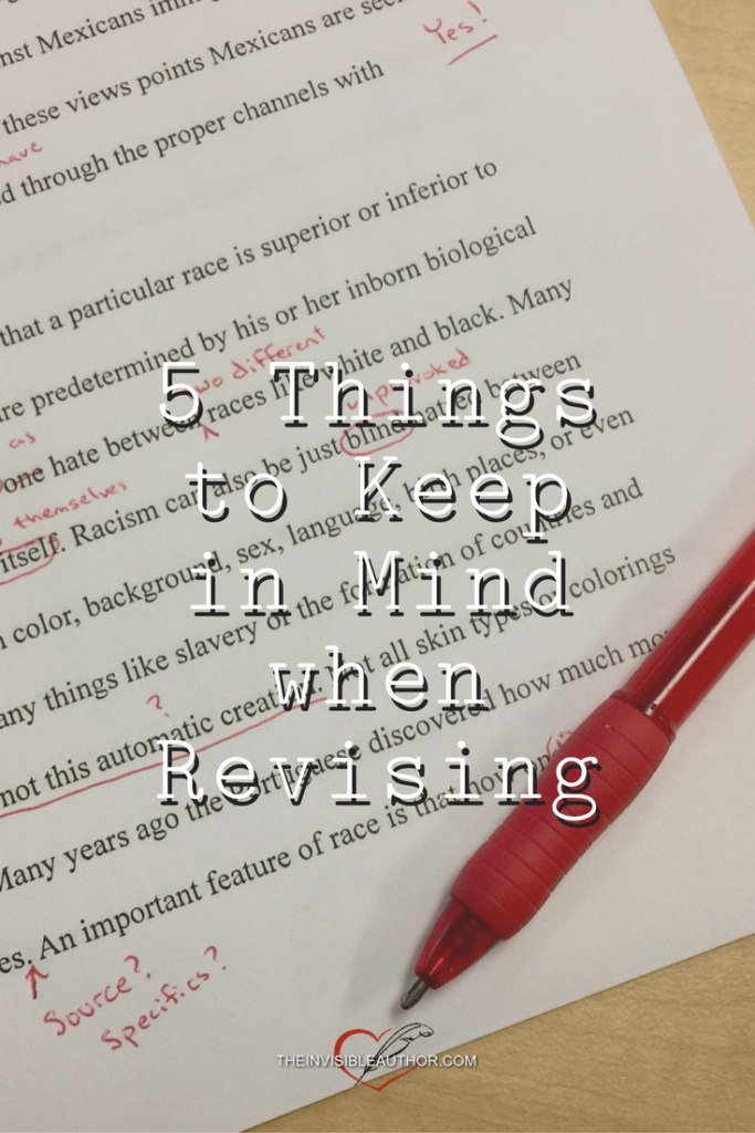 5 Things to Keep in Mind When Revising