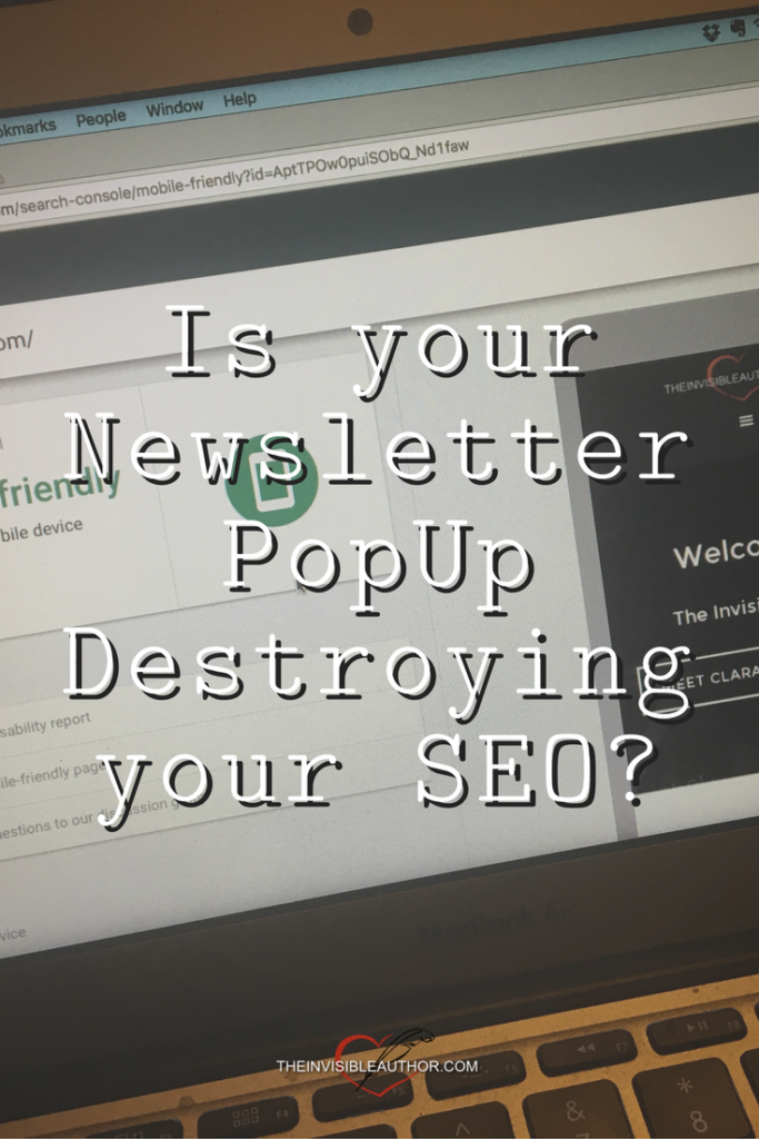 Is your Newsletter PopUp Destroying your SEO?