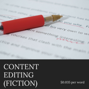 Author Services - Content Editing for Fiction