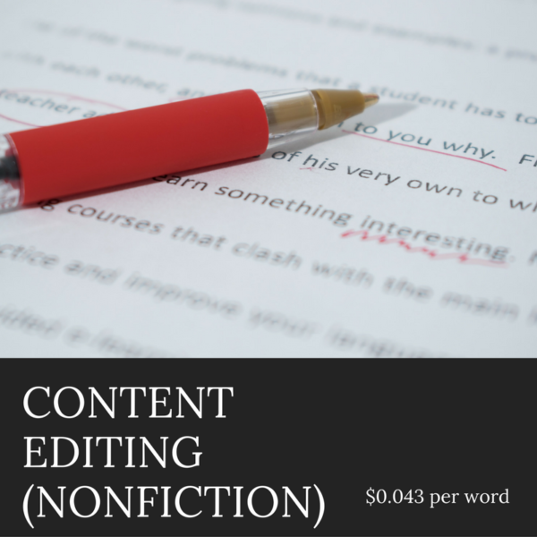 Author Services - Content Editing for Nonfiction