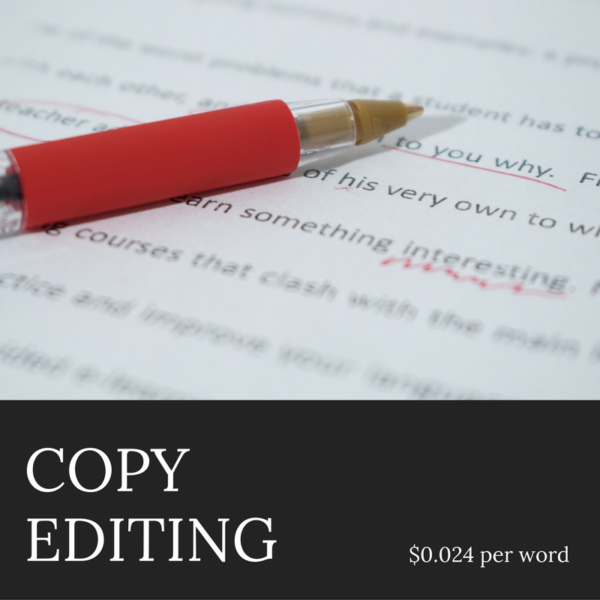 Author Services - Copy Editing