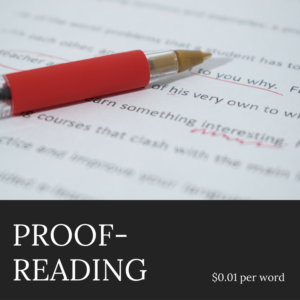 Author Services - Proofreading