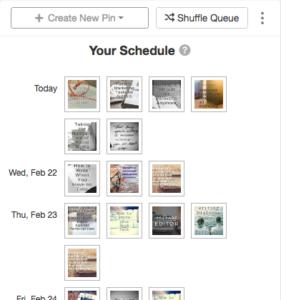 Tailwind Sample Schedule