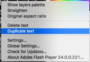 PicMonkey Duplicate Text
