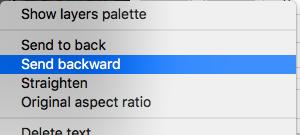 PicMonkey Move Backward