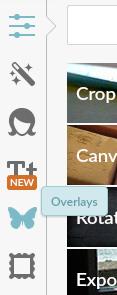 PicMonkey Overlays Menu Screenshot
