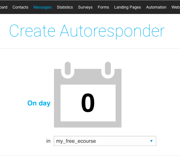 GetResponse Create Autoresponder