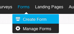 GetResponse Create Form