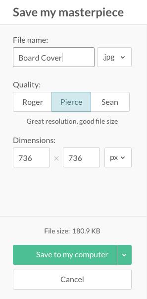 PicMonkey Quality and Sizing