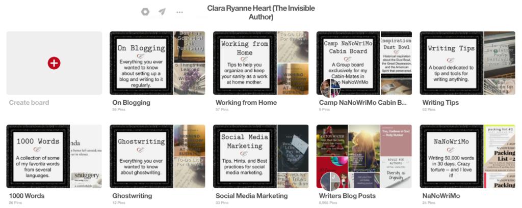 Pinterest my Boards
