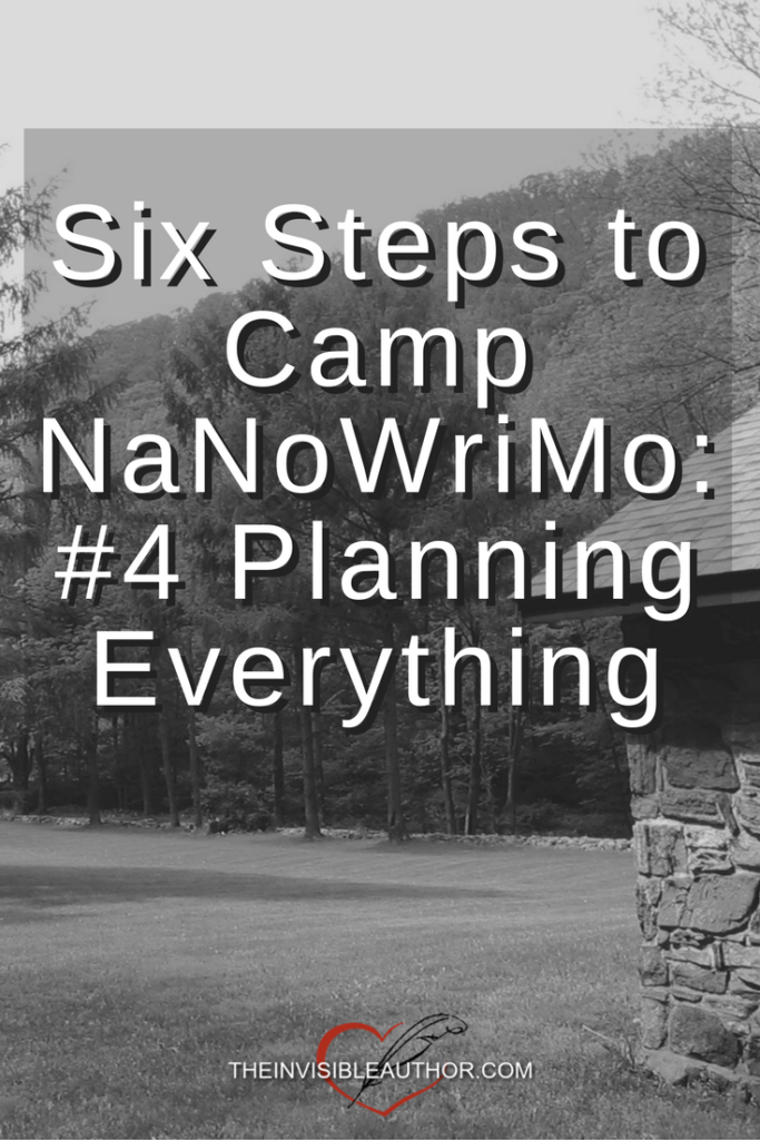Six Steps to Camp NaNoWriMo: #4 Planning Everything