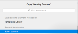 Choose Bullet Journal notebook
