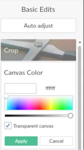 Choose Canvas color