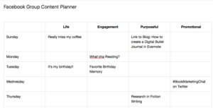 Facebook Content Planner