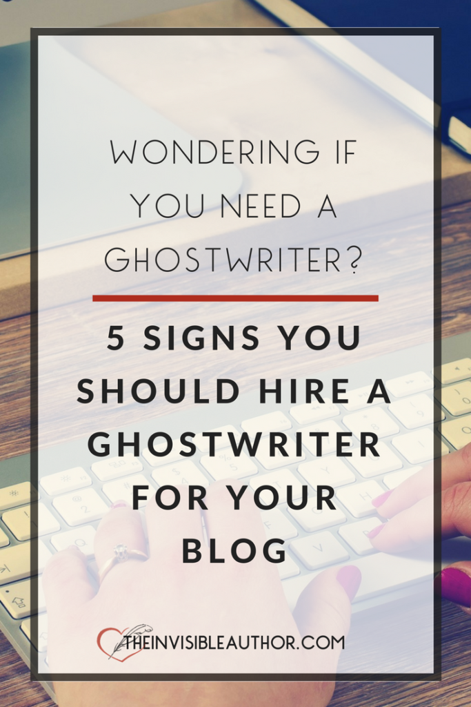Ghostwriter for hire out